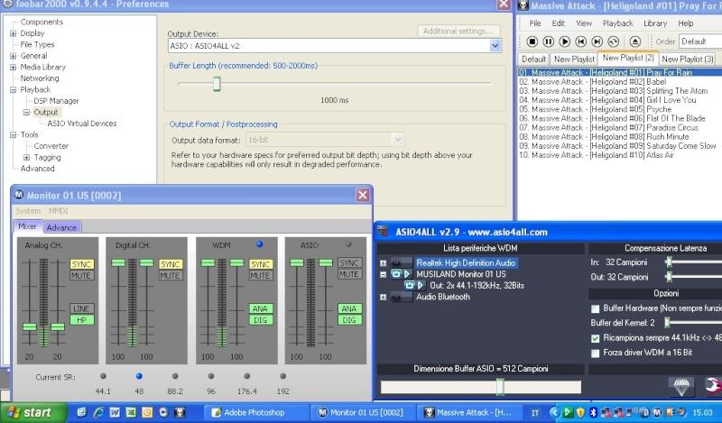 Musiland monitor 01 US e driver ASIO Musila11