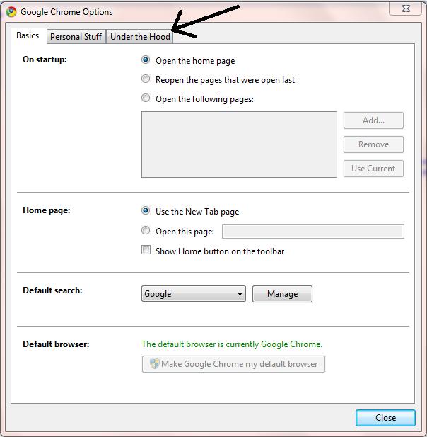 Изчистване на кеш паметта на браузъра Chrome12