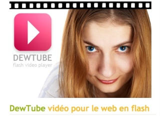 Dewtube video pour le web en flash Captur10