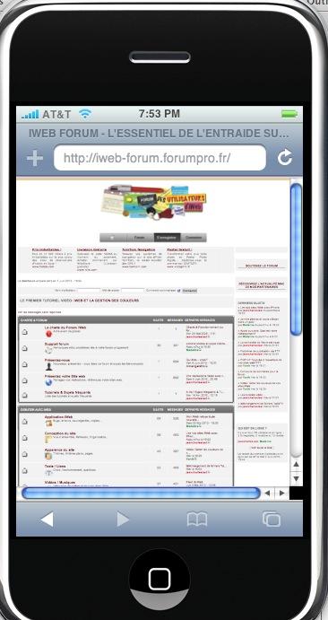 iphoney, appli pour simuler l'affichage votre site sur iPhone Captur40
