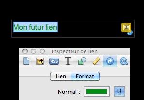 Personnaliser vos liens avec Inspecteur de lien Captur80