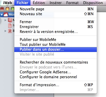 Tutoriel: la Publication locale Ftp-pu13