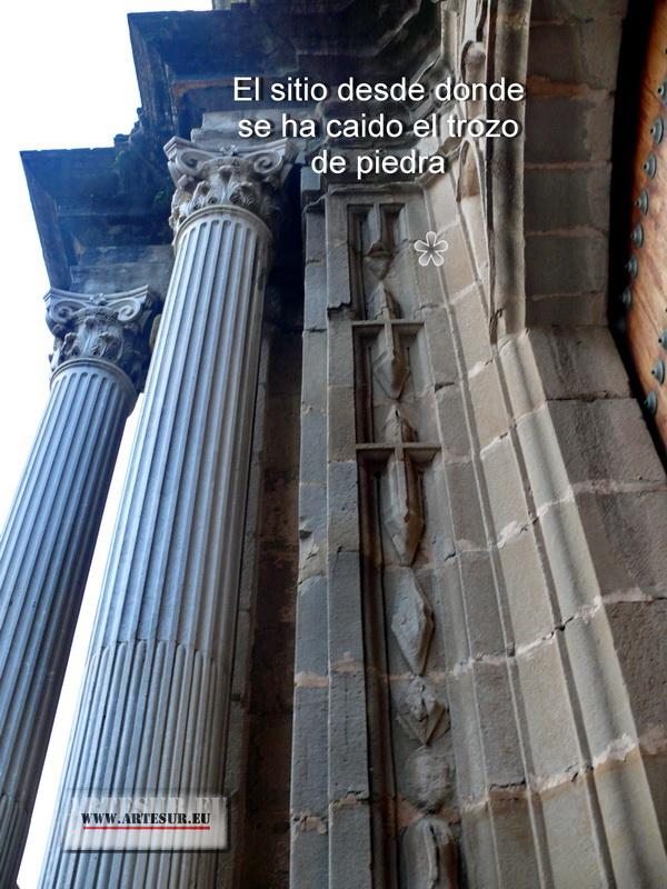 Se desprenden piedras de la fachada de San Mateo P1630011