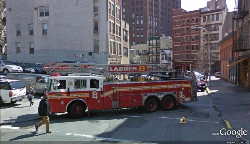 STREET VIEW : les camions de pompiers  Ladder10