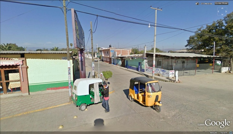 STREET VIEW : Mini Taxi,Mexique Mexiqu13