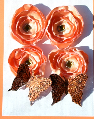 Flowers/Butterflies Orange12