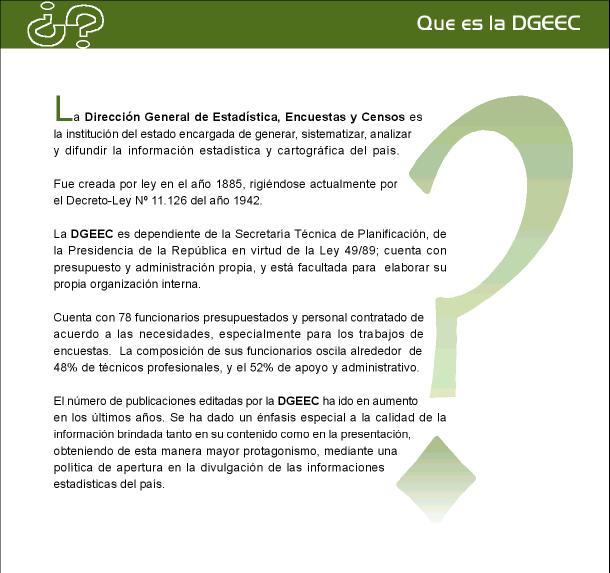 DIRECCION GENERAL DE ESTADISTICAS Queesp10