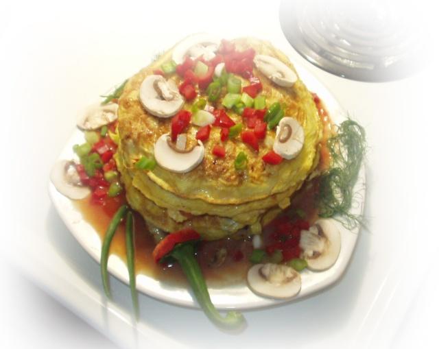 Gâteau d'omelettes panaché Gateau10