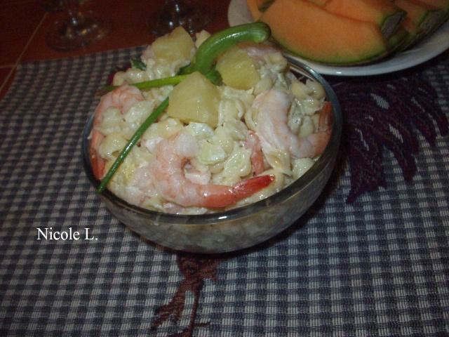 Salade de coquilles aux crevettes Salade16