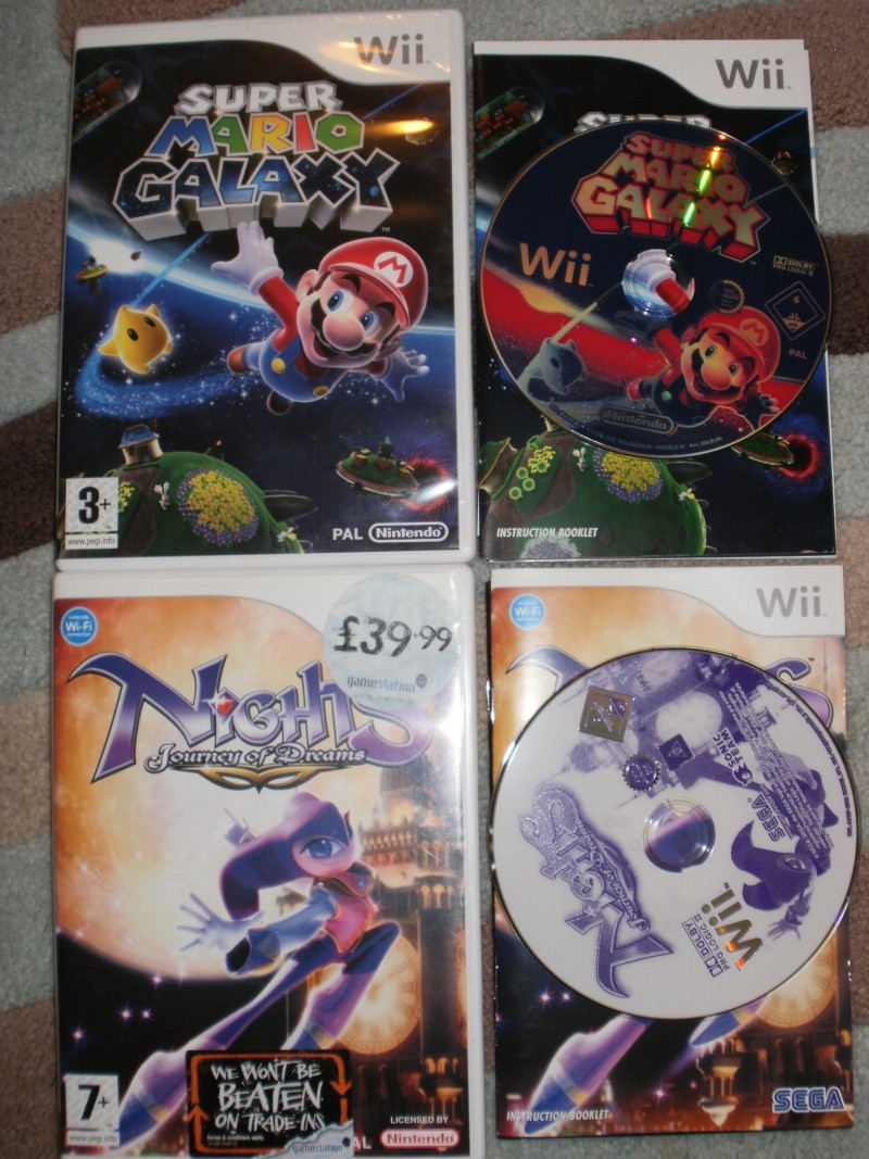 2 x Wii Games. Super Mario Galaxy & Nights journey of dreams UK PAL P2245310