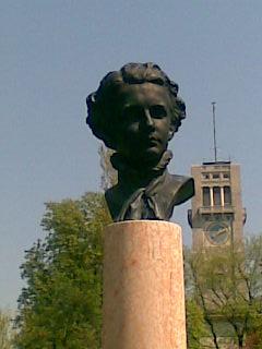 Büste von Ludwig II. an der Corneliusbrücke Ludwig19