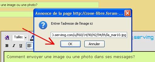 Comment envoyer une image/une photo? Insare21