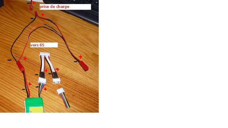 Chargement de 2 lipos 3s Arc210
