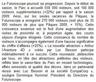 Fréquentation 2010 - Page 6 Articl10