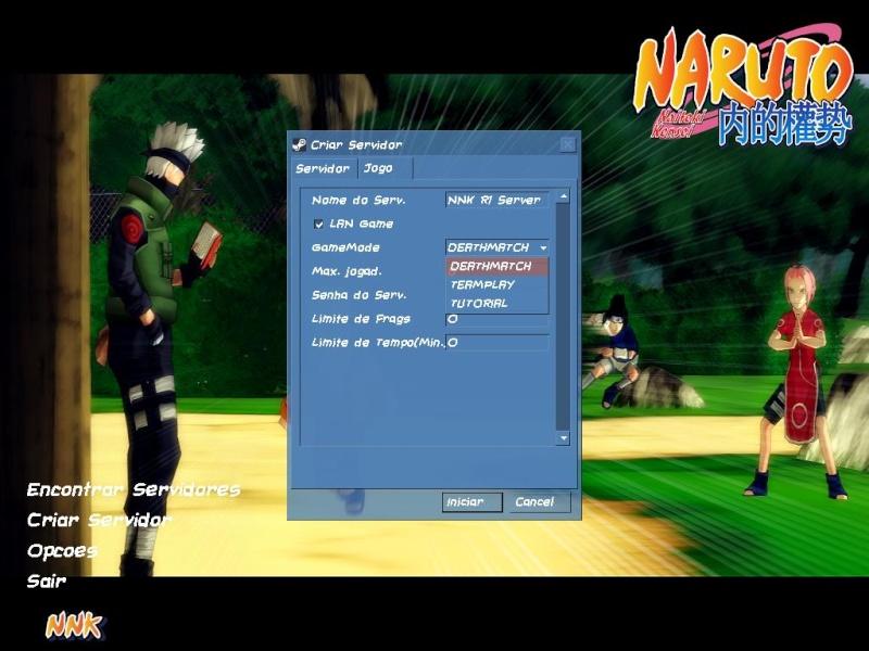 Erro de tenta criar servidor e volta para o menu principal Config11