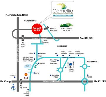 Lokasi, Map Cahaya Alam Camap210