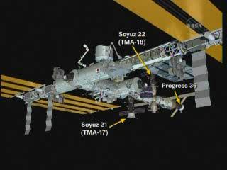 ISS : Amarrage de Progress M-05M le 1er mai 2010 Vlcsn289