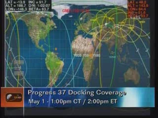 ISS : Amarrage de Progress M-05M le 1er mai 2010 Vlcsna30