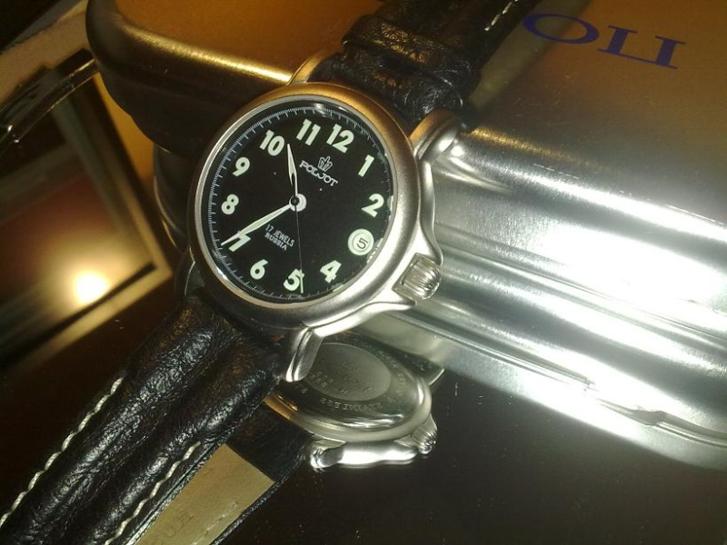 revue photo montre poljot round 2614 Montre11
