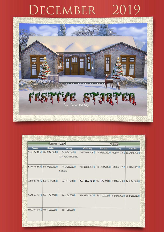 2019 TSCC Calendar: December Decemb10