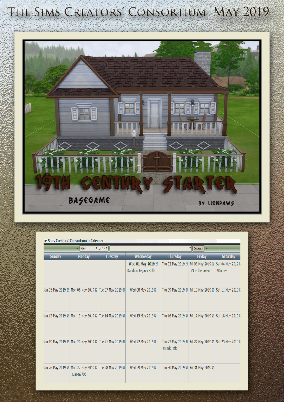 2019 TSCC Calendar: April & May  May20110