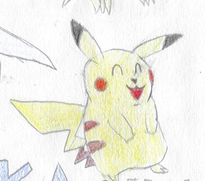 ^v^ Ma galerie de dessins sur papiers  Pikach11