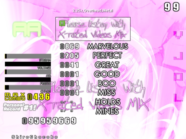 Glorious Thread of Stepmania Scores and Achievements Screen11