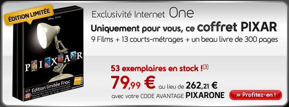 Coffret Pixar - Edition Spéciale Fnac One11