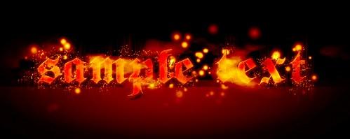 Efect de foc pentru Text 3210