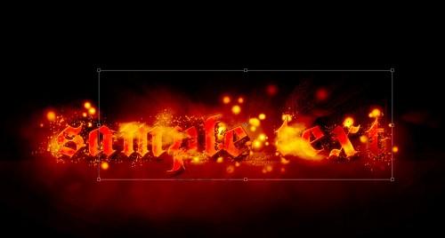 Efect de foc pentru Text 3710
