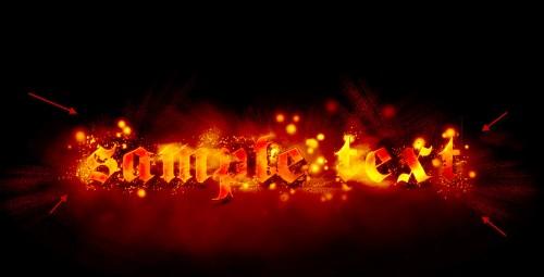 Efect de foc pentru Text 3810