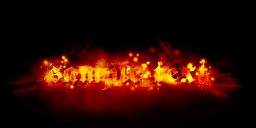 Efect de foc pentru Text 4310