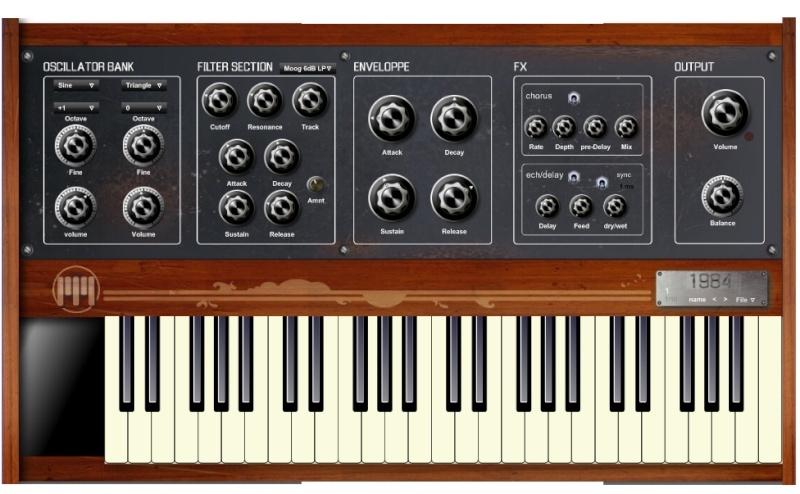 1984 Analog Synthesizer Freeware 1984vs11