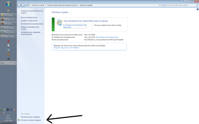 Como usar el Windows Anytime Upgrade [WINDOWS 7] 410