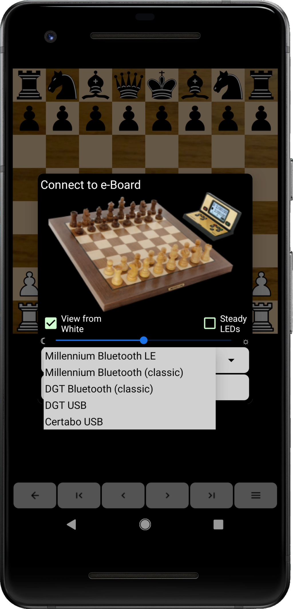 Chess for Android and Electronic ChessBoards Eboard10