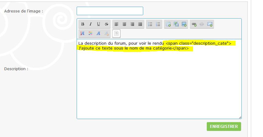 [Toutes les versions] Ajouter un élément personnalisé à coté / en dessous du titre des catégories (Texte ou image) 212