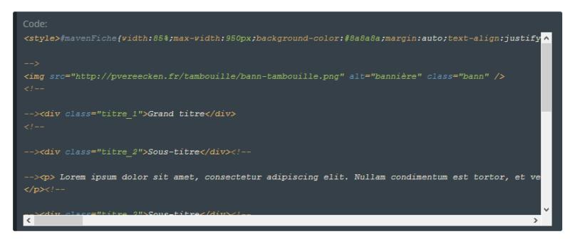 "[Toutes versions] Personnaliser les balises ""codes"" Awesom14"