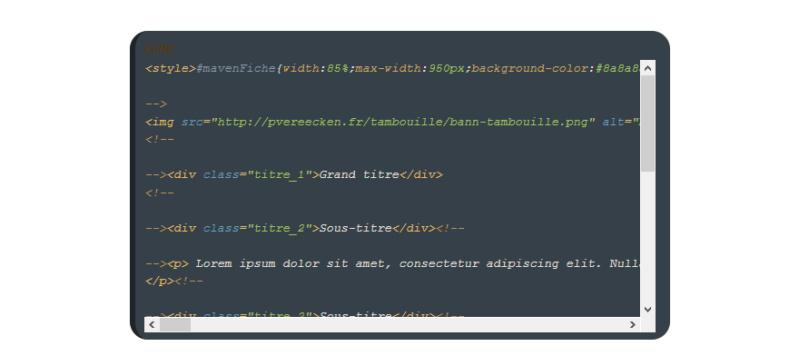 "[Toutes versions] Personnaliser les balises ""codes"" Awesom15"