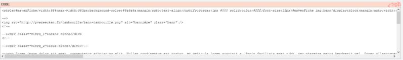 "[Toutes versions] Personnaliser les balises ""codes"" Invisi14"