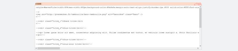 "[Toutes versions] Personnaliser les balises ""codes"" Invisi15"