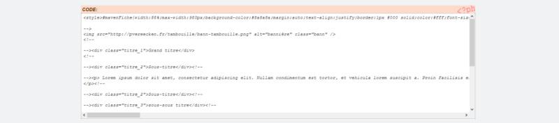 "[Toutes versions] Personnaliser les balises ""codes"" Invisi16"