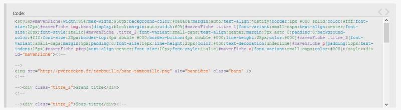 """[Toutes versions] Personnaliser les balises """"codes"""" Modern12"""