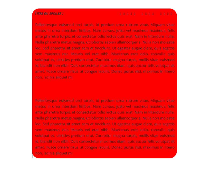 """[Toutes versions] Personnaliser les balises """"spoiler"""" Ouvert28"""