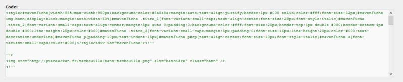 "[Toutes versions] Personnaliser les balises ""codes"" Phpbb211"