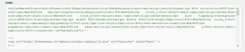 "[Toutes versions] Personnaliser les balises ""codes"" Phpbb212"