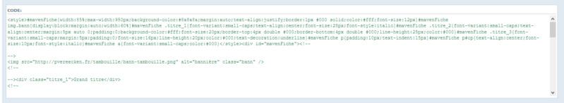 "[Toutes versions] Personnaliser les balises ""codes"" Phpbb310"