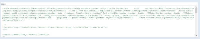 "[Toutes versions] Personnaliser les balises ""codes"" Phpbb311"