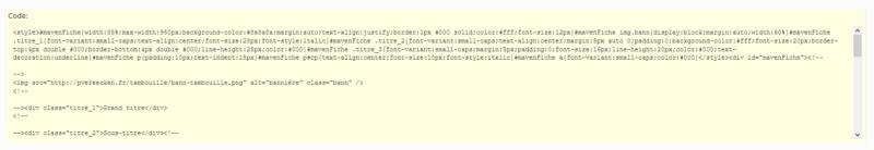 """[Toutes versions] Personnaliser les balises """"codes"""" Punbb011"""