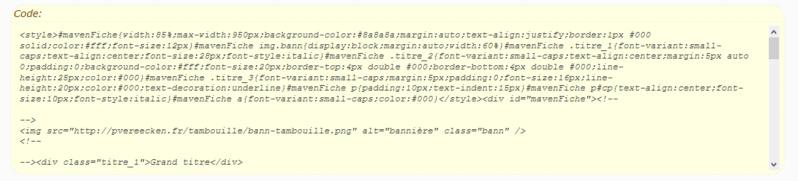 """[Toutes versions] Personnaliser les balises """"codes"""" Punbb_13"""