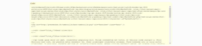 """[Toutes versions] Personnaliser les balises """"codes"""" Punbb_14"""